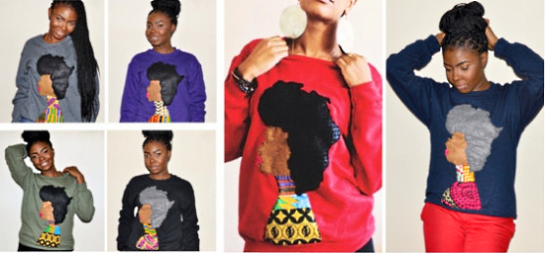 2013 1 27 QuellyRue Designs Afro Woman sweatshirt